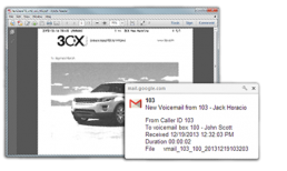 Deliver 3CX Faxes & Voicemail to Inbox